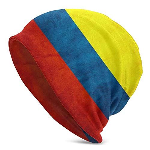 fuyon Gorros de Punto para Mujer para Hombre Sombreros Bandera de Colombia Antigua Gorras de Invierno cálido Unisex