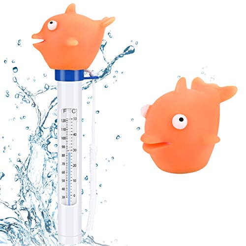 Gafild Schwimmende Pool Thermometer,Floating Pool Thermometer Wasser Temperatur Thermometer Baby-Pool Thermometer für Alle Outdoor & Indoor Pools, Spas, Hot Tubs, Aquarien & Fischteiche
