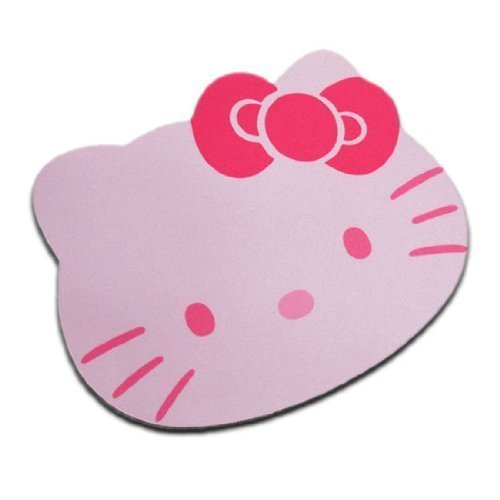 Fashion Cartoon Hello Kitty Optical Mouse pad Personalized Computer Decoration Mouse Pad Mat Non-Toxic Tasteless Mice Mat Mousepad (Pink)