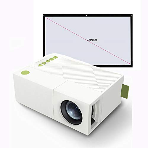 Draagbare videoprojector, Full HD 1080P Display Apps batterij (verdeling van 72-inch zacht gordijn) speelfilm ondersteuning 1080p HAMI, VGA, AV