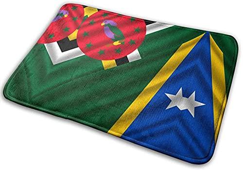 Badematte Badezimmerteppich, Flagge Salomonen & Dominica Absorbent Living Bedroom Area Teppiche rutschfest für Eingangsbereich Duschböden,