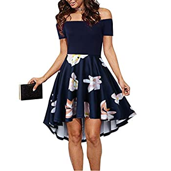 CUQY Teens Elegant Female Graduation Dress Formal Homecoming Dresses for Womens Navy M  …