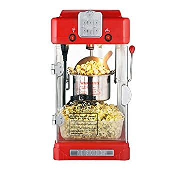 Pop Pup Countertop Popcorn Machine – Tabletop Popper Makes 1 Gallon – 2.5-Ounce Kettle Catch Tray Warming Light & Scoop by Great Northern Popcorn
