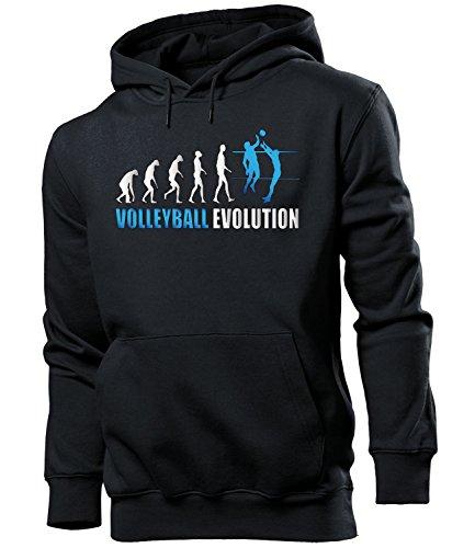 Volleyball Evolution Herren Männer Hoodie Kapuzen Pullover Sweatshirt Pulli Artikel Geschenke Geburtstag zubehör Oberteil Kleidung Outfit ausrüstung Sport fanhoodie Fan Sportswear Ball