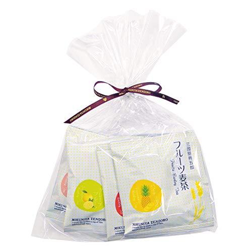 三國屋善五郎 フルーツ麦茶(茶楽)8種 プチギフト (T2006-02)お茶 麦茶 フレーバードティー ぶどう グレープ 白桃 ピーチティー りんご アップルティー パイナップ すいか マンゴー グレープフルーツ