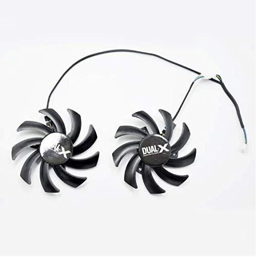 QHXCM 2 Stks/partij voor 85 mm FD7010H12S Dual Cooler Fan vervangen voor zijn R9-280X R9-290 R9-390 HD7950 HD7970 grafische kaart Cooling Fans