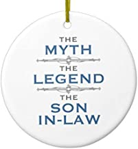 Mars Secret Myth Legend Son-in-Law Christmas Ornaments Ceramic Double Sided Christmas Tree Decorations Hanging 3 Inches