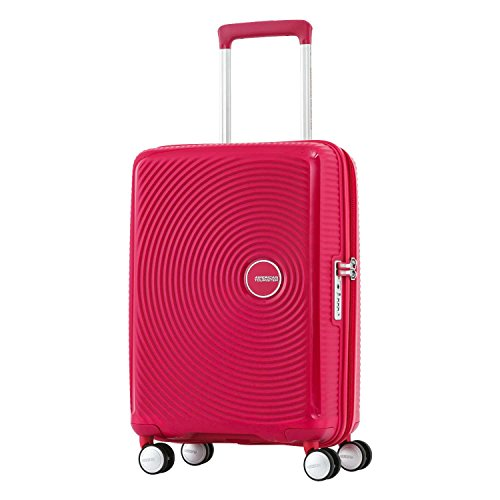 American Tourister Curio Hardside Luggage with Spinner Wheels, Black