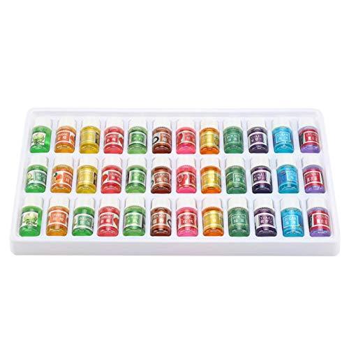 Focket Set di Olio Essenziale, 36pcs 3 ml di Olio Essenziale aromatico solubile in Acqua Naturale di Erbe, 12 Tipi di aromi per umidificatore Spray per Lampada Aroma ECC
