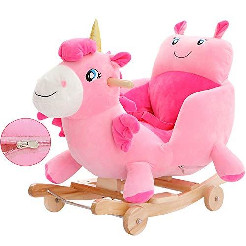 ZhaoXH-Caballo Mecedora Asiento de Felpa Unicornio Rocker Bebé del Caballo Mecedora Mecedora Animal...