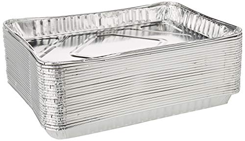 Pack of 25 1/4-Size (Quarter) Sheet Cake Aluminum Foil Pan– Extra Sturdy and Durable – Great for Bake Sales, Events and Transporting Food - 12-3/4' x8-3/4' x 1-1/4'