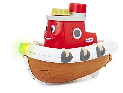 little tikes 643569GR Sparkle Bay Schaum Boot Schleppdampfer Badewannenspielzeug mit Schaumfunktion