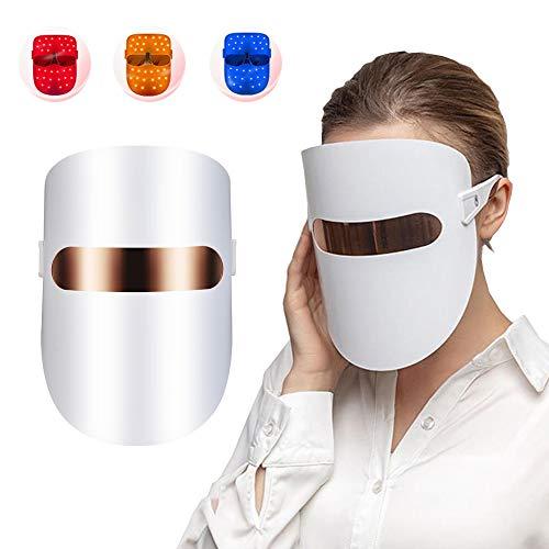 QOUP 3-Colores Herramientas de Belleza Facial, Cuidado de la Piel LED enmascaran...