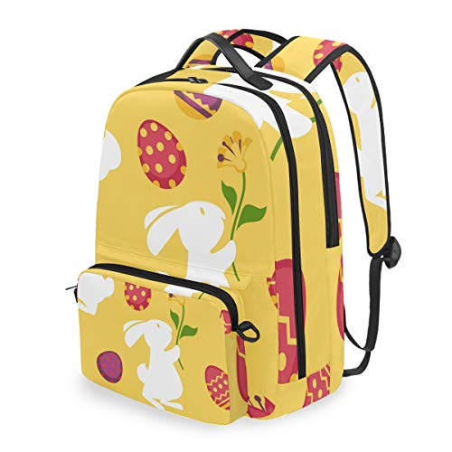 Rucksack mit abnehmbarem Kreuztaschen-Set Osterhase Computer Rucksäcke Büchertasche für Reisen, Wandern, Camping Daypack