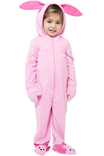 A Christmas Story One Piece Deranged Pink Bunny Union Suit (Toddler 4T/5T)