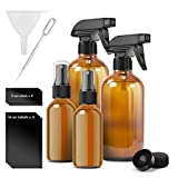 Glass Spray Bottles Amber Suitable for Cleaning Solutions or Essential Oils Heavy Duty