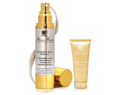 Diamond Cell Cream Crème éclaircissante Crème visage anti-âge. 50 ml + cadeau Taille voyage 20 ml