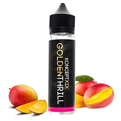 Koncept19 - Golden Thrill E-Liquid | 50ML | Sin Nicotina: 0MG | 80VG/20PG | E-Liquido para Cigarrillos Electronicos | Vaper | E Cigarette | E Shisha