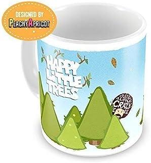 Bob Ross - Happy Little Trees Mug - Officially licensed Bob Ross the Joy of painting funny coffee mug