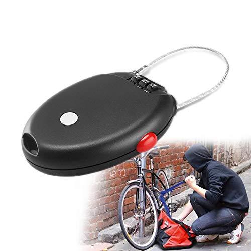 Woniu Zahlenschloss Fahrrad, Kabelschloss Mit Klein Und Tragbar 62CM Stahldraht Zum Stationäres Fahrrad Helm