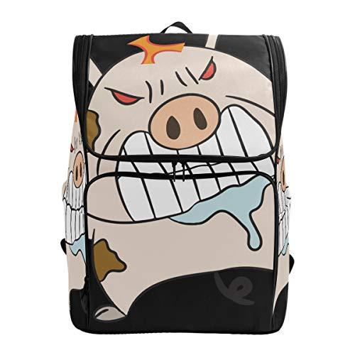 Fantazio Angry Pig Sac à Dos pour Ordinateur Portable, Voyage, randonnée, Camping, décontracté, Grand Sac à Dos pour l'école