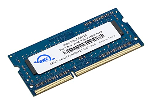 OWC 8GB PC3-12800 DDR3L 1600MHz SO-DIMM 204 Pin CL11 Memory Module Upgrade Compatible with iMac, Mac Mini, and MacBook Pro