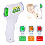 Forehead Thermometer-No Touch Forehead Thermometer Strips for Adults, Kids, Baby, Random Color (One Size,...