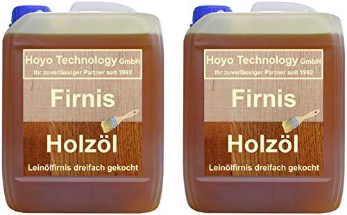 Hoyo Technology GmbH 20 Liter Leinöl Firnis Lausitzer Leinölfirnis für Holzschutz dreifach gekocht und harzfrei