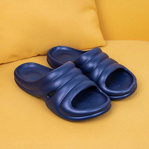 TDYSDYN Ideal para Ducha,Playa,SPA Zapatillas,Sandalias y Zapatillas de Pareja a Rayas, Zapatillas de Ducha de baño para el hogar-Armada_44-45