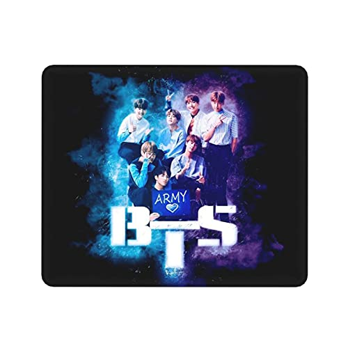 KpOp BtS Tappetino Mouse Gaming Tappetino per mouse antiscivolo Tappetino per mouse rettangolare in gomma Tappetino per mouse da gioco (30x25 cm)