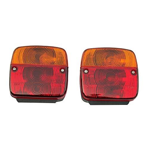 11002302 Blinklicht für Traktor, Anhänger, links und rechts, mit Glühbirne, 1 Paar