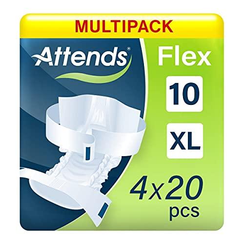 Attends FLEX 10XL, Inkontinenz-Produkt, bei vollständiger Harn- und Stuhlinkontinenz, (4X20)
