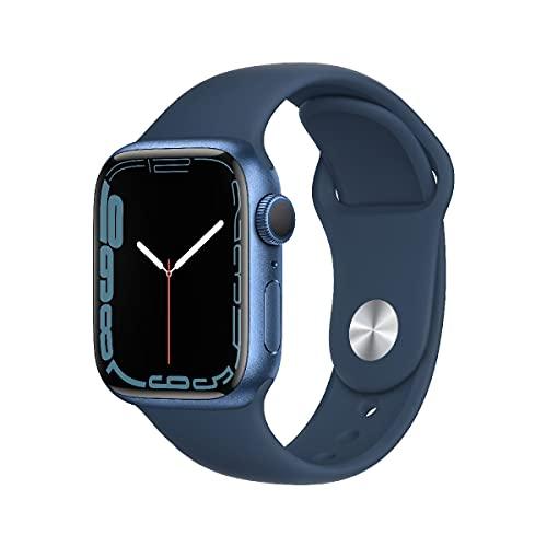 AppleWatch Series7 (GPS, 41mm) - Aluminiumgehäuse Blau, Sportarmband Abyssblau - Regular