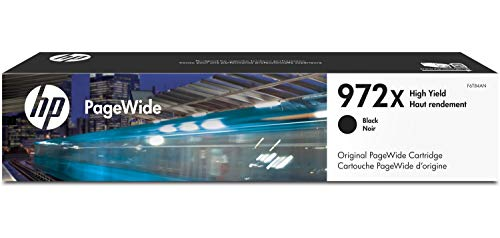 HP 972X | PageWide Cartridge High Yield | Black | Works with HP PageWide Pro 452 Series, 477 Series, 552dw, 577 Series | F6T84AN