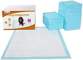 FEANDREA Lot de 100 Tapis éducateurs pour Chiots, 5 Couches de Protection, Super absorbants, Anti-Fuite, 60 x 60 cm PTD60B