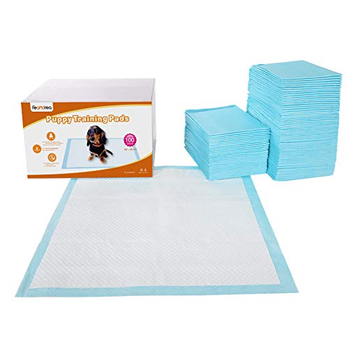 FEANDREA Lot de 100 Tapis éducateurs pour Chiots, 5 Couches de Protection, Super absorbants, Anti-Fuite, 60 x 60 cm PTD60B