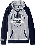 Ultra Game NFL Seattle Seahawks Mens Standard Fleece Hoodie Pullover Sweatshirt University, Team Color, Large