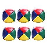 That Bolas De Malabares 6 Piezas De Malabares De Pelotas De Malabares para Principiantes Ballo De Puñetazo Duradero Suave Y Suave Multicolor Multicolor Noble