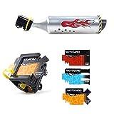 Wuyee Fahrrad Turbo Auspuffrohr, Fahrrad Auspuffrohr, Fahrrad Auspuff Laut System, Speichensound-Maker-Karten-Radsport-Kit für Kinder