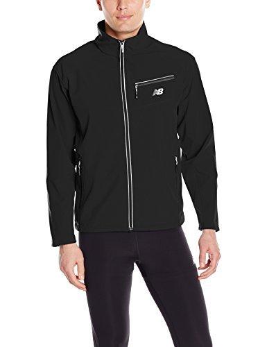 New Balance Men's Soft Shell Jacket, Black, Medium