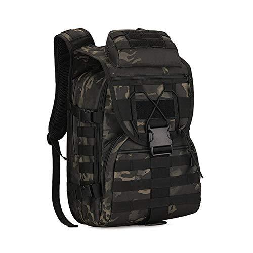 Huntvp® 40L Militar Rucksack Taktisch Wanderrucksack Wasserdicht Trekkingrucksack MOLLE Tactical Sportrucksack Daypack Tagesrucksack Kampfrucksack 14 Zoll Laptoptasche für Outdoor, Camouflage