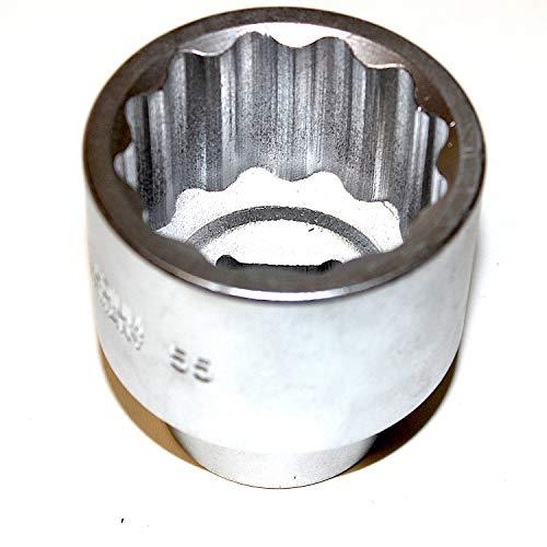 Steckschlüsseleinsatz Stecknuss Zwölfkant 1 zoll 25 mm Antrieb. Schlüsselweite SW 55 mm CV-Stahl sehr gute Qualität. WGB, 10 Jahre Garantie. Metrische 12 kant Nuss Steckschlüssel Zwölfkantnuss