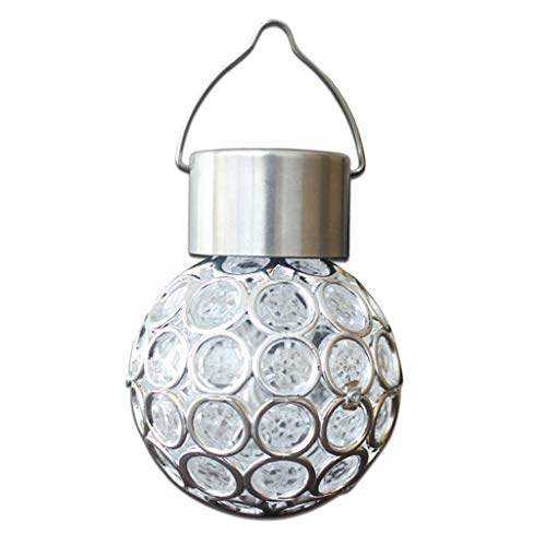 Baoblaze Solarleuchte Hängelampe Solar Lampe Kugelleuchte Gartenlampe Außenleuchte Solarlampe Garten Solarkugel - Colorful
