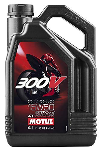Huile Moteur MOTUL 300V Factory Line Road Racing 4T 15W50 100% synthèse 4L