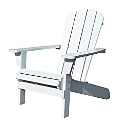 Northbeam Faux Wood Foldable Relaxed Adirondack Chair