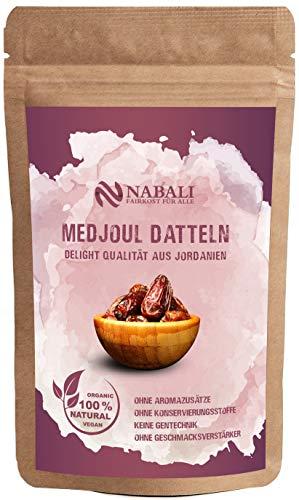 NABALI FAIRKOST FÜR ALLE Medjoul Datteln Delight aus Jordanien I 100% natürlich aromatisch frisch orientalisch & vegan I Medjool Datteln ohne Konservierungsstoffe honigsüß & karamellig I 1 kg