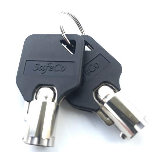 SafeCo Brands Homak Safe Steel Keys with Black Head Code Series HMC0001 Thru HMC31000 2-Steel Keys w/Black Head