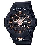 Casio G-SHOCK Reloj Analógico-Digital, 20 BAR, Dorado/Rosa/Negro, para Hombre, GA-710B-1A4ER