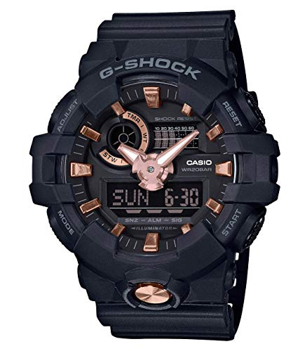 Casio G-SHOCK Orologio 20 BAR, Dorato/Rosa/Nero, Analogico - Digitale, Uomo, GA-710B