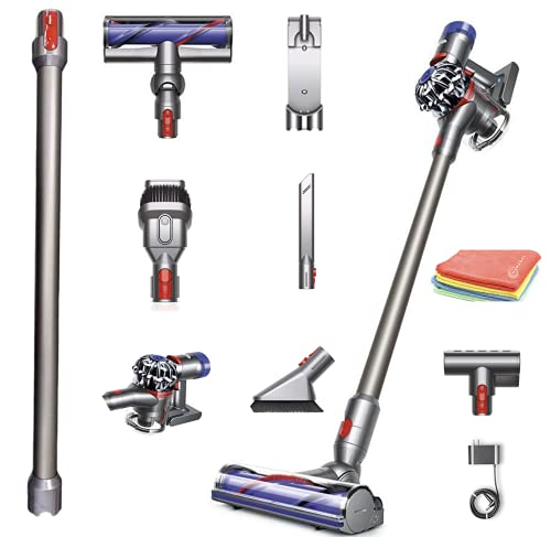 Flagship Dyson V7 Animal HEPA Cordless Stick Vacuum Cleaner: Lightweight, Powerful, Bagless Ergonomic, Telescopic Handle, Rechargeable Battery, Height Adjustable + Marxsol One Microfiber Cloth